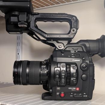 Rent C300 Mark II Kit:  Cine CN-E 18-80 & 70-200mm T4.4, Lights Kit, Tripod, Wireless Audio + More