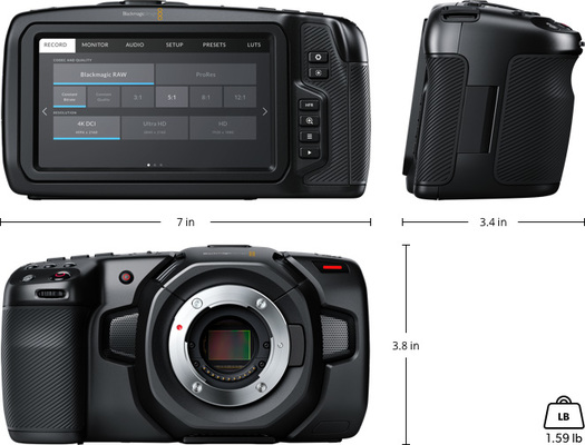 Blackmagic pocket cinema camera 4k imperial sm