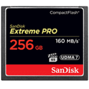 Rent SanDisk 256GB 160MB/s Extreme Pro Compact Flash Memory Card