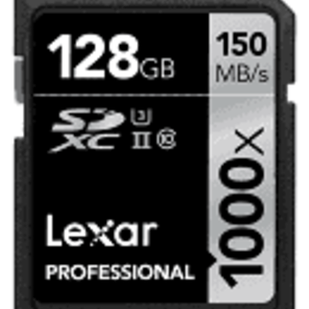 Rent Lexar 128GB 1000x Professional UHS-II SDXC Memory Card