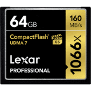 Rent Lexar 64GB 1066x Professional Compact Flash Memory Card