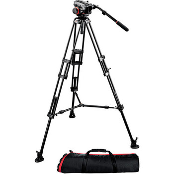 Rent Manfrotto 504HD Fluid Head w/546B Aluminum Tripod + Carry Bag