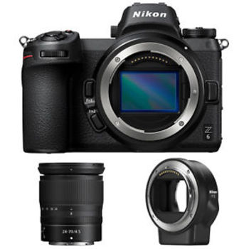 Rent Nikon Z6 camera with 24-70mm lens and FTZ lens mount adapter. Includes1x Nikon Z 6 Body1x Nikon 24-70mm f/4 Z Lens1x Nikon FTZ Adapter3x Sony 32GB XQD Cards3x Nikon EN-ELb Batteries1x Nikon Battery Charger1x XQD Reader1x Nikon USB tether cord