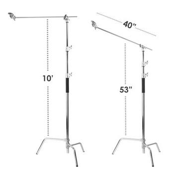 "Rent Flashpoint 40"" C-Stand 2x Stand Kit with turtle base and soft case"