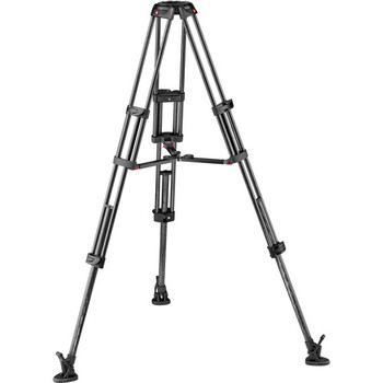 Rent Manfrotto Carbon Fiber Twin Leg Video Tripod Legs w/ Mid-Level Spreader (100/75mm Bowl)
