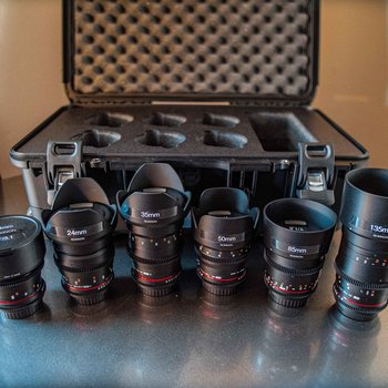 Rent Rokinon Cine DS 6 Lens Set for Canon EF