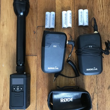 Rent Audio kit for wireless handheld interviews + lac mic. RODE