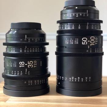 Rent Sigma Sigma Cine 18-35mm T2 + Sigma Cine 50-100mm T2 Canon Mount