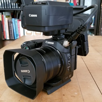 Rent Canon XC15, Generay LED,  x2 Sennheiser G3 Wireless Lavelier, and iKan Shoulder Mount