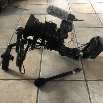 Rent Sony A7S II with Sony 28-135mm PZ lens, Ninja V, and Nucleus M with a shoulder pad and rail kit