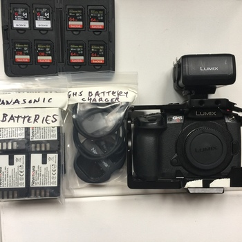 Rent Panasonic GH5S CAMERA, XLR ADAPTER, BATTERIES, CARDS