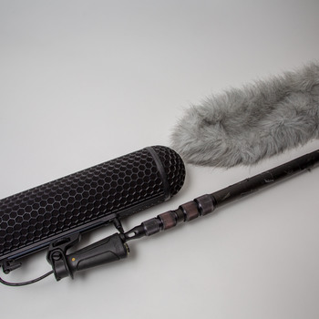 Rent Carbon fiber boom pole with Rode blimp and dead wombat