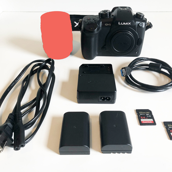 Rent NEW Panasonic Lumix GH5 with V-LOG, two 64gb SD XC II 300MB/s and two Original Batteries