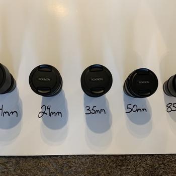 Rent Rokinon Cinema Lens Set: 14mm, 24mm, 35mm, 50mm & 85mm