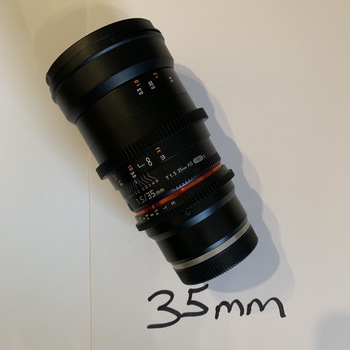 Rent Rokinon DS 35mm T1.5 Cinema Lens (E-mount)
