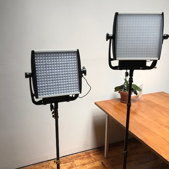 Rent Litepanels Astra 6X Bi-Color LED Panel w/ gold mount battery adapter