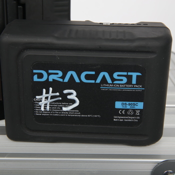 Rent Dracast 90Wh Compact Li-Ion Battery (V-Mount) w/ Charger Kit