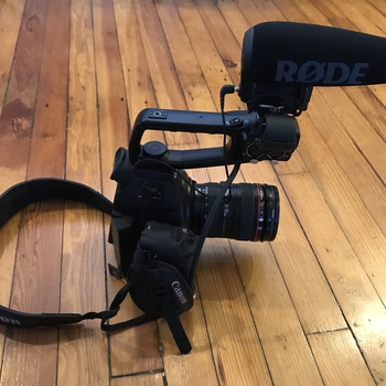Rent Canon C100 Kit w/ Lens, Onboard RODE mic & Backpack