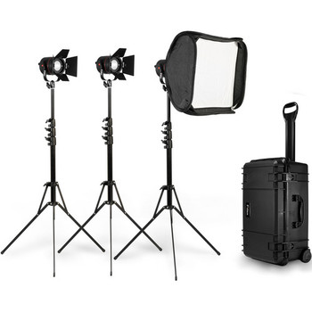 Rent Three-Point Light Kit that Fits in a Pelican Case - Fiilex P360 Kit with Three LED Lights and Two Soft-boxes