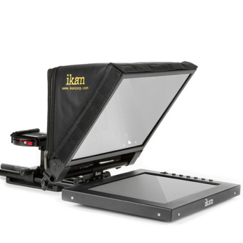 "Rent ikan PT1200 12"" Portable Teleprompter Kit with rolling case"