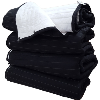 Rent 6x Sound Blankets - Double Sided Black / White WITH Grommets 80″ x 80″ (6 Ft Tall)