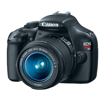 Rent Canon Rebel T3 with 2 lens, adapter and battery charger