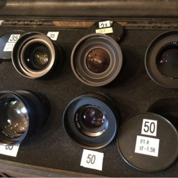 Rent Vintage Contax Zeiss Superspeeds 5 Lens Kit