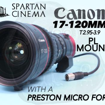 Rent Canon Cine-Servo 17-120mm PL + Preston Microforce V+F