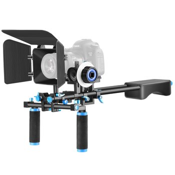 Rent Neewer Aluminum Alloy Film Movie Video Making System Kit, Includes: (1) Shoulder Rig, (1) Follow Focus and (1) Matte Box (Black+Blue)