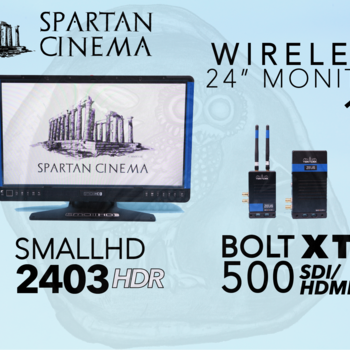 "Rent Wireless 24"" Monitor: Bolt 500 XT 1:1 + SmallHD 2403 HDR #1"