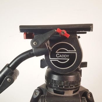 Rent Sachtler Video 18 Caddy with gas pressurized lifting tripod.