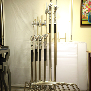 Rent C-Stand Kit (2) 10 ft (4)8ft Century Stands
