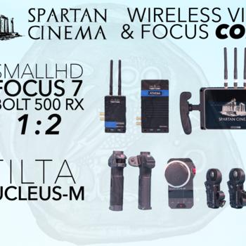 Rent Nucleus M + Bolt 500 XT 1:2 TX + RX + SmallHD FOCUS 7 Combo Wireless Video & Lens Control