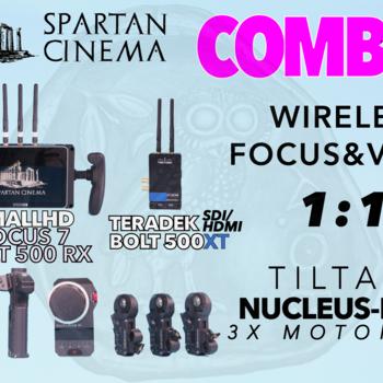 Rent Tilta Nucleus M + Bolt 500 XT 1:1 Tx + SmallHD FOCUS 7 Combo #1