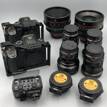 Rent 2x Gh5s Cinematic Shooters Kit, Canon CN-e, Voightlander lens Set, Metabones speed Booster