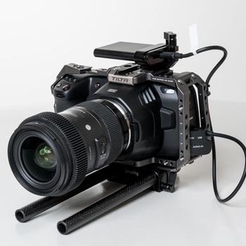 Rent Blackmagic Design Pocket Cinema Camera 6K + Sigma Lens 18-35mm + SSD , KIT