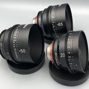 Rent NEW* Xeen Cine PL 3 Lens Set, 20mm, 50mm, 85mm + Follow Focus