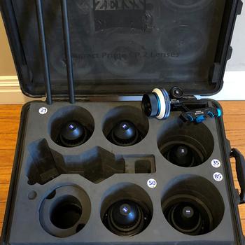 Rent Zeiss Primes CP.2 5 Lens Set, PL Mount with Follow Focus