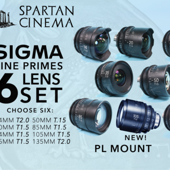 Rent Choose 6: Sigma Cine FF High Speed Primes PL NEW 105MM