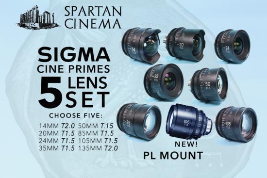 Sigma cine primes 5 lenses p1