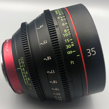 Rent Canon CN-E 35mm T1.5  Cine Lens  EF or Sony E Mount*