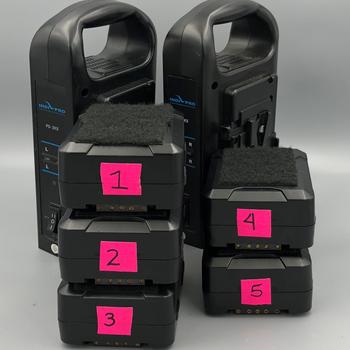 Rent IndiPRO Tools Micro-Series 98Wh Li-Ion V-Mount Bat. x5 + Charger x2