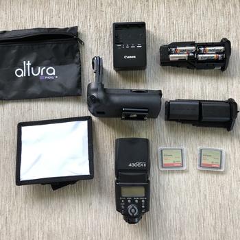 Rent Canon 5D Mark III w/  24-105 lens + Battery Grip + Speedlite + Tripod Package