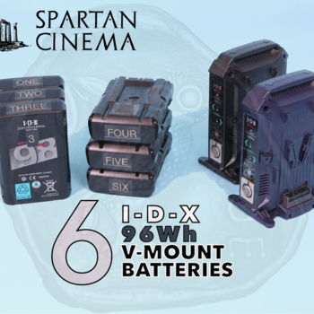 Rent 6x IDX DUO-C98 96Wh V-Mount Batteries + 2 Chargers