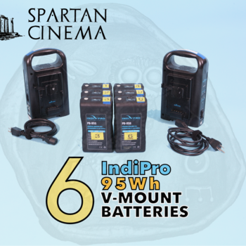 Rent 6x IndiPro PD-95S V-Mount Batteries + 2x Chargers