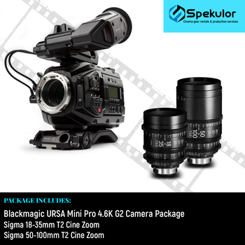 Rent Blackmagic URSA Pro 4.6K G2 Camera + Sigma Cine Zoom T2 Lenses
