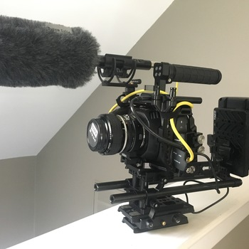 Rent Blackmagic Pocket 4K Full Kit with full SmallRig Cage, Juice Box, 7 Nikon F Mount Lenses, Metabones Speed Booster, Shotgun Mic and More!