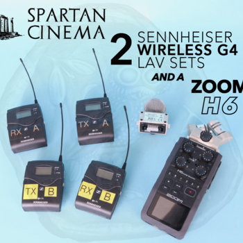 Rent (2x) Two Sennheiser G4 Wireless Lavs + Zoom H6 Recorder Audio Package