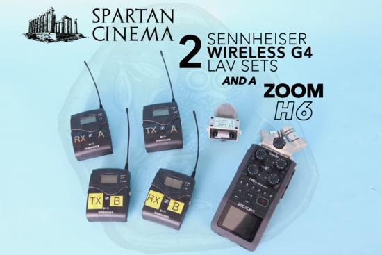 2x sennheiser wireless lav g4 zoom h6 p1