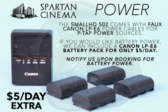 Smallhd 502 power